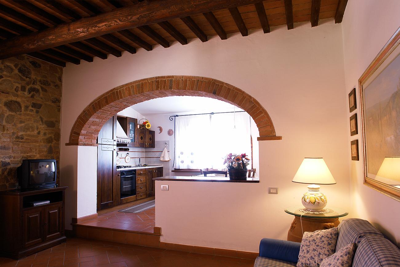 Romantiske lejlighed i Toscana med køkken, romantiske soveværelse ...